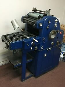 Ab Dick 360 Chain Delivery Offset Printing Press In Working Condition
