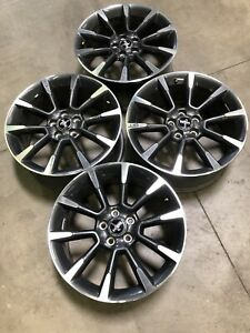Set 3863 19 Ford Mustang Gt 2011 2012 Factory Oem Rims Wheels Charcoal Machined