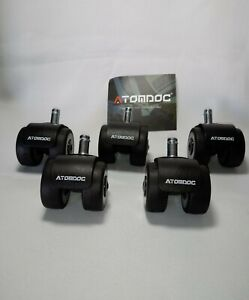 Atomdoc Office Chair Caster Wheels Newly Revolutionary Quadruple Ball Bearing 5