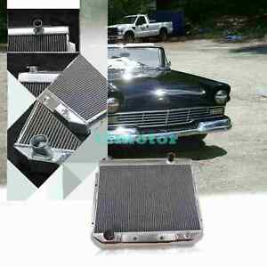 3 Row Aluminum Radiator Fit 1957 58 59 Ford Fairlane Ranchero 6cyl Engines