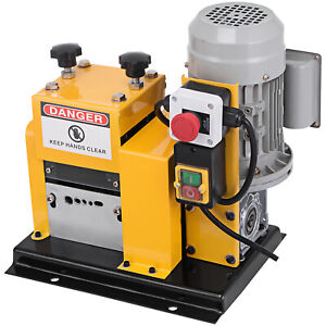 Electric Wire Stripping Machine Portable Powered Comercial 1 2hp Cable Stripper