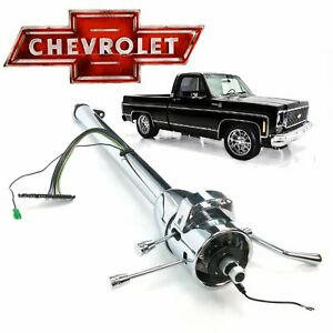 1973 83 Chevy Truck 33 Chrome Gm Tilt Steering Column No Key C10 Th350 Automati
