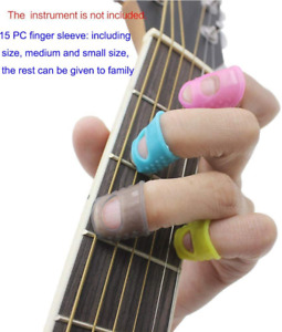 Guitar Silicone Left Hand Fingertip Protector Finger Guards Against Press Ukulee $30.89
