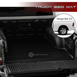 For 2002 2018 Dodge Ram 6 4 6 5 Ft Blk Rubber Diamond Truck Bed Floor Mat Liner