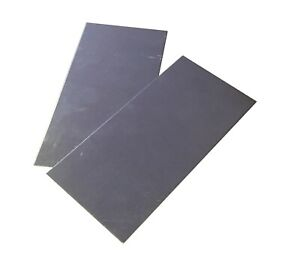 2pc 18ga 05 3 x6 Galvanized zinc Coated Steel Sheet Metal Plate magnetic
