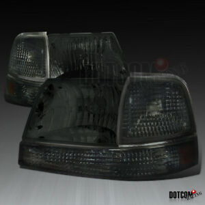 Fit 1998 2000 Ford Ranger Headlights corner Signal Lights Bumper Lamp Smoke