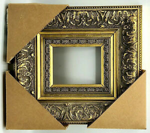 Antique Gold Ornate Victorian Style Wood Picture Frame 4 X 5 Fine Home Decor