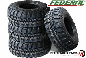 4 Federal Couragia M t 33x12 50r20 10ply 114q Mud Terrain Performance Tires