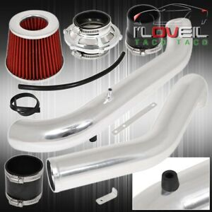 For 96 00 Civic Jdm 1 6l High Performance Cold Air Intake Silver Bypass Filter