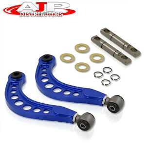 Blue Adjustable Rear Camber Control Arms Kit Jdm For 2006 2015 Honda Civic Fd Fg