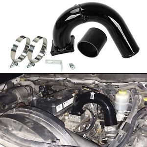High Flow Intake Elbow Tube For 2003 2007 Dodge Ram 5 9l Cummins Diesel Black