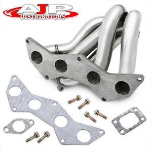 T3 t4 Stainless Steel Turbo Exhaust Header Manifold Steel For 2004 2010 Scion Tc