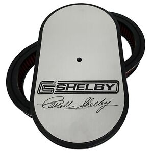 Ford Carroll Shelby Signature Logo 15 Oval Air Cleaner Kit Ansen Usa