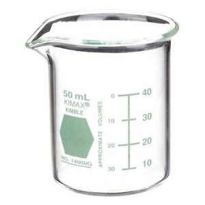 Griffin Beaker low Form glass 50ml pk12 14000g 50