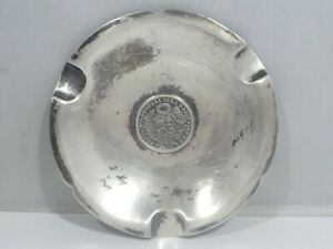 Vintage Peruvian Sterling Silver Coin Ashtray 3 2 Troy Oz