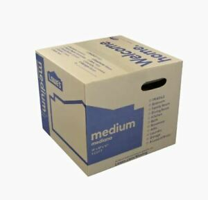 Medium Cardboard Moving Boxes 5 Pack Shipping Packing Reusable Box 18 X 16