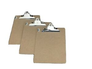 Officemate Wood Clipboard Letter Size Recycled Set Of 3 Clipboards