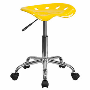 Flash Furniture Orange yellow Tractor Seat Chrome Stool Lf 214a yellow gg