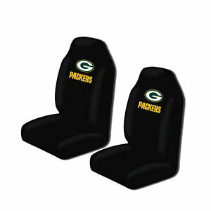 Green Bay Packers High Back Car Seat Covers Pair Universal Suv