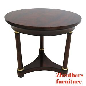 Councill Craftsman Furniture Flame Mahogany Round Pedestal End Table A