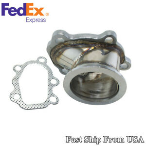 For T25 T28 Gt25 Turbo Housings Down Pipe 5 Bolt To 2 5 V Band Flange Adapter