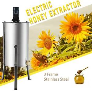 3 frame Electric Honey Extractor Ss Beekeeping Equipment Spinner Drum