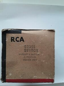 Vintage Rca Switch Circuit Section Position Rotary 52001