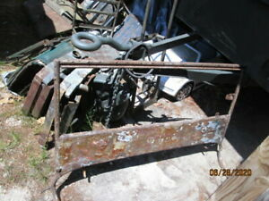 Willys Cj2a Outer Windshield Assembly 1946 To 1948 Good Shape Jeep