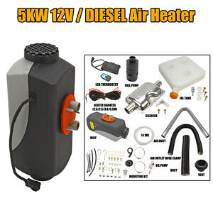5kw Air Diesel Heater 12v Car Boat Truck Quiet Parking Heater W Lcd Switch