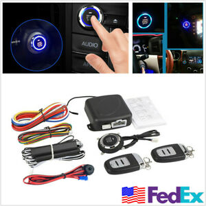 Car Alarm Anti Theft One Button Remote Engine Start Keyless Entry System Us Ship