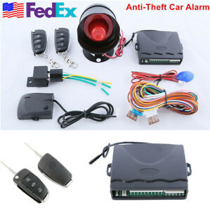 Car Security One way Anti theft Door Locking Keyless Entry Remote Trunk Release