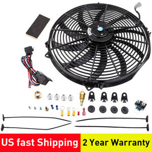 16 3000 Cfm 10 Blades Electric Radiator Fan Thermostat Wiring Switch Relay Set