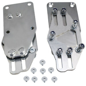 Adjustable Motor Mounts Adapters Raw Steel On Ls Engine For Chevy Small Block