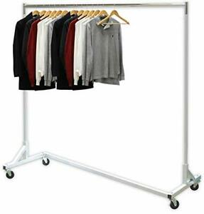Simple Houseware Industrial Grade Z base Garment Rack 400lb Load With 62 Extra