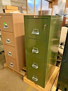4 Drawer Letter Size Fire proof File Cabinet By Fire King W lock