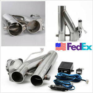 2 5 Inch Stainless Exhaust Control E Cut Out Dual Valve Electric Y Pipe W Remote