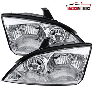 For 2005 2006 2007 Ford Focus Headlights Signal Lamps Left Right Replacement