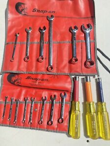 Snap on C90 8 9 Pieces Kit 6 point Ignition Wrench Set screw Nut Driver Vintage