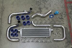 Chrome Bolt On Turbo Intercooler Piping Kit Blow Off Civic Del Sol Integra Eg Dc