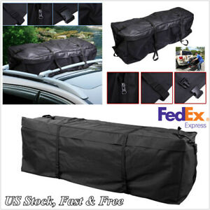Car Suv Roof Top Rack Carrier Travel Bag Cargo Luggage Storage Bag Waterproof 1x