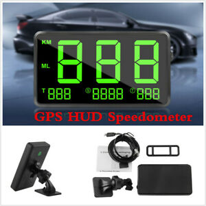 Digital Car Gps Speedometer Speed Display Km H Mph Universal For Car Motorcycles