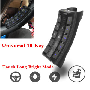 Universal Steering Wheel 10 key Button Remote Control For Car Stereo Dvd Gps