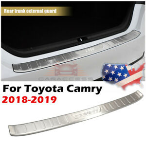 Stainless Steel Outer Rear Bumper Protector Guard Cover For Toyota Camry 2018 20