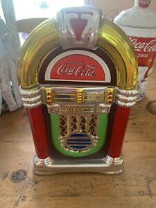 Gibson Coca Cola Retro Rock N Roll Coke Jukebox Cookie Jar Canister