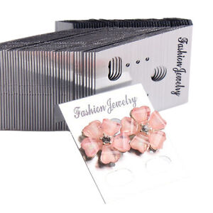 100xsilver Professional Type Plastic Earring Ear Studs Holder Display Cards Iu