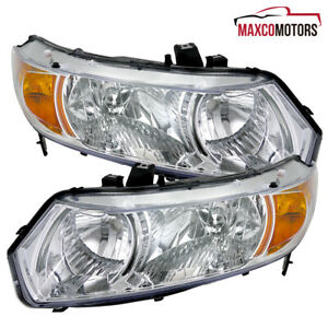 For 2006 2011 Honda Civic 2 Door Coupe Headlights Turn Signal Lamps Left Right