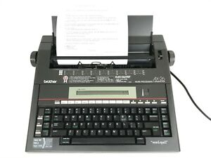 Brother Ax 26 Portable Word Spell Processing Electronic Typewriter