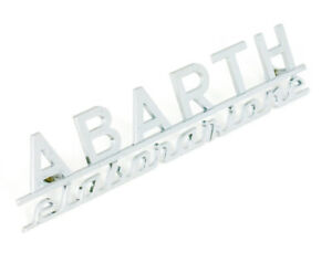 Fiat Abarth Elaborazione Script Emblem 125 Mm New