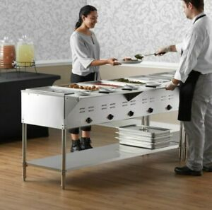 Servit Est 5we Five Pan Open Well Electric Steam Table With Undershelf 208 240