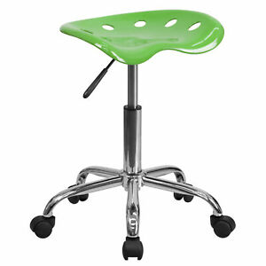 Flash Furniture Spicy Lime Tractor Seat Chrome Stool Lf 214a spicylime gg